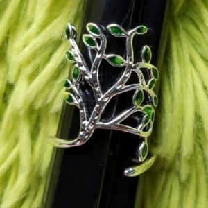 Boho 925 Sterling SILVER Tree Leaves Branch Ring